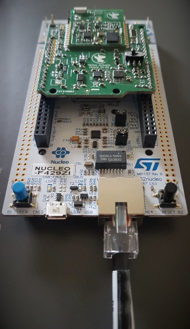HAS with ST Nucleo development board